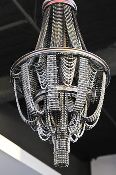 Wheel and Chain Chandelier by HartfordBicycle on Etsy, $349.00 ...