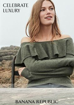 7b6d51fc426 Shop the Ruffle Off-the-Shoulder Cashmere Sweater and more fine knits