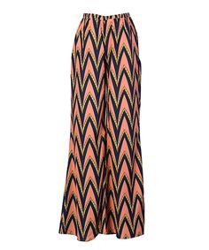 Look at this Hello Miss Coral & Black Palazzo Pants on #zulily today!