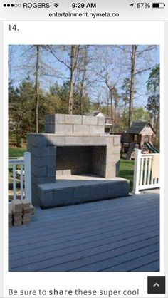 These 14 DIY Projects Using Cinder Blocks Are Brilliant. Outdoor  FireplacesOutdoor ...