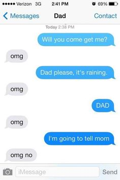 This dad who knows a little rain can't hurt you... | 29 Parents Who Are Clearly Way Better At Texting Than Their Kids