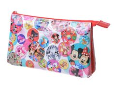 Mickey & Minnie Mouse Characters Flat Pouch Pen Case My Disney Store JAPAN