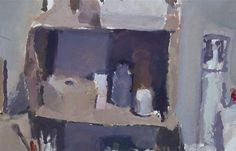 Dick Lee - Small Study 1980 Gouache. 14 x 29cm