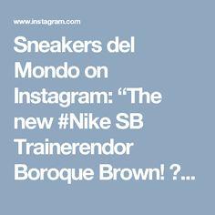 "Sneakers del Mondo on Instagram: ""The new #Nike SB Trainerendor Boroque Brown! 🌰🍁🍂 #nikes #nikesb #niketrainer #trainerendor #nikesneakers #sneakers #sneakerhead…"""