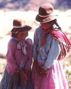 Two Little Girls in Sorota Bolivia
