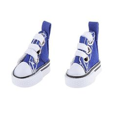 3.5CM Dark Blue Casual Canvas Shoes for 1/6 Blythe/Momoko/AZONE Doll Clothes