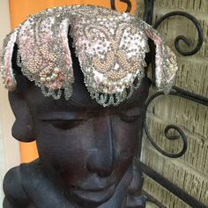 Vintage/ Antique hat Beautiful beaded scallop hat. All beads intact. VERY RARE Brianti of Florence. One of a kind. Brianti of Florence Accessories Hats