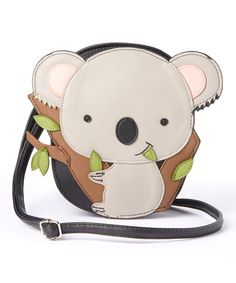Another great find on Sleepyville Critters Black Koala Bear Crossbody Bag by Sleepyville Critters Unique Handbags, Cute Handbags, Unique Bags, Handbags On Sale, Purses And Handbags, Small Boy, Purse Styles, Cute Purses, Leather Keychain