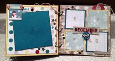 6x6 Chipboard Mini Album with Fancy Pants Designs Timbergrove collection.  Kit for Scrap Addicts. Paper Candie