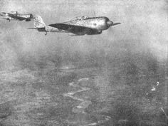 "Japanese fighters Ki-43 ""Hayabusa"" 64 Sentai in the sky Burma"