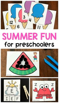 17 BEST summer activities for preschoolers include printable and hands-on play & learning centers to use during an ocean, beach theme at school & home! Bubble Activities, Summer Preschool Activities, Gross Motor Activities, Toddler Learning Activities, Preschool At Home, Preschool Themes, Preschool Lessons, Educational Activities, Fun Learning