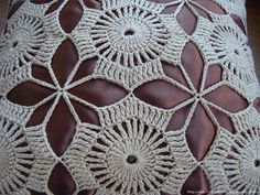 Artesanía Crochet Tejido: Cojín