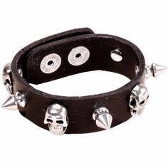 Leather Spiked Wrist Bracelet Bracelets Gothic Gauntlets Pinterest And Black
