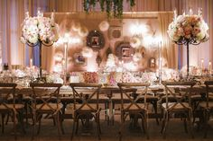 Amp up the peach wedding theme with matching drapery and lighting. #receptiondecor Photography: Samuel Lippke Studios. Read More: http://www.insideweddings.com/news/planning-design/15-reasons-to-pick-peach-as-one-of-your-wedding-colors/2052/