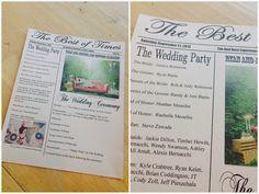 {The Best of Times} Wedding Ceremony Program