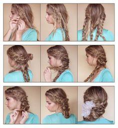 Bohemian Braided Updo Hairstyle | hairstyles tutorial