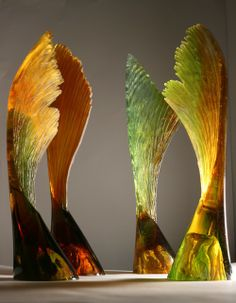 Group of Seeds with Wings by Crispian Heath. 2010? Cast glass.