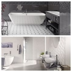Octagon and relief #tiles are just a couple of the #spanish #tile trends spotted by @tileofspain at the recently concluded #cersaie2015 exhibition in #Bologna #Italy. See what else was trending - on the blog (link in profile). #architecture #artisan #bathroom #ceramics #ceramictile #design #decor #decoração #decoracion #home #homedecor #homeinspo #interiors #interiordesign #kitchens #inspiration #patterns #shapes #tilelove #tiledesign #tileaddiction #tileometry #walltile #walldecor by…