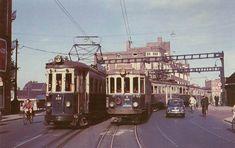 Baarsjesweg ter hoogte van nr. 134. Wiegbrug met passerende tram, 1952