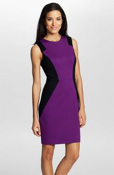 Free shipping and returns on Cynthia Steffe 'Aubrey' Colorblock Ponte Dress at Nordstrom.com. Notched, angular side panels lend architectural dimension to the contoured silhouette of a rich, structured sheath.