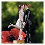tall groom short bride cake topper