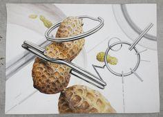 Peanuts and key ring drawing watercolor by Bryan Jeong