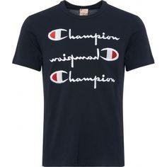 1cef5fe07c78 Champion Navy Repeat Logo T-Shirt 211987-NNY