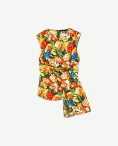 Image 6 of DRAPED FLORAL PRINT TOP from Zara
