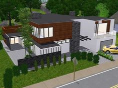 house ideas | everything xbox | pinterest | exteriors, sims 3 and ... - Sims 3 Wohnzimmer Modern