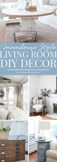 13 DIY Projects For Gorgeous Farmhouse Living Room Decor