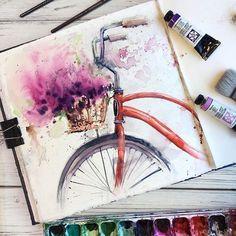 Watercolor Art by Painting, Drawing . Watercolor art by painting, drawing, art Art Floral, Portrait Paintings, Art Paintings, Oil Portrait, Drawing Sketches, Art Sketches, Drawing Ideas, Drawing Journal, Animal Drawings