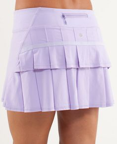 So want this!! This is an awesome running skirt! It has shorts, a hidden pocket for a tennis ball, and a hidden pocket in the back. Super cute! There's also a video. Run: PaceSetter Skirt*R