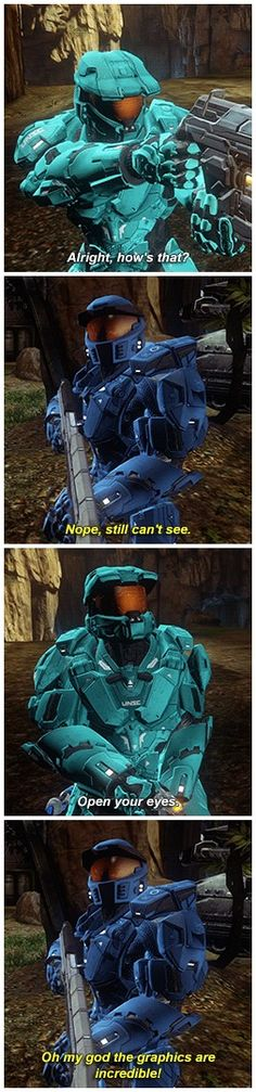 Caboose has some of the best lines. RvB, Caboose, Tucker.