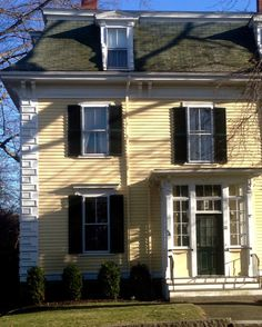 """rickinmar: """" house in Marblehead from about 1860-70. with quoins and mansard roof. """""""