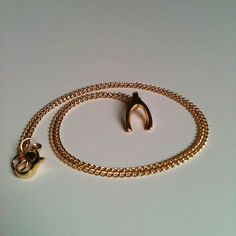 Tiny Gold Wishbone Pendant Necklace on Thin Gold by aRadboutique, $6.99
