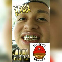 Are those perms? Don't you want a top quality gold grill? #amazinggrillz Top quality gold grillz Call Fly Junky (561)891-2382 Perm look Comfortability(no tension on teeth or gums) Real gold 10k,14k,18k,silver,WG,RG  Designs  #goldslugs#goldteeth#goldgrillz#mensfashion#jewelry#style#instalike#instamood#gold#fashion#miami#cali#atl#nyc#palmbeachcounty#561#business#southfl#dope#local#gold#grillz#yellowgold#customjewelry#instagood#design#custom#flyjunky#qualitywork