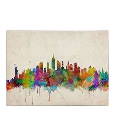 Take a look at this New York Skyline Gallery-Wrapped Canvas by Michael Tompsett on #zulily today!