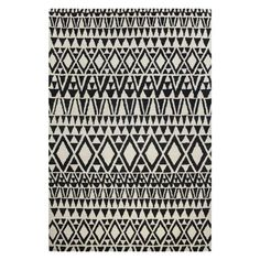 Ana Ivory/Black Wool/Cotton Area Rug - x (Ivory/Black - x Tufted Bed, Hand Tufted Rugs, How To Install Pavers, Concrete Patio, Concrete Bags, Patio Tiles, Concrete Stairs, Framed Tv, Patio Makeover