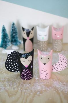 Don't throw out your paper towel rolls, turn them into something playful with this.