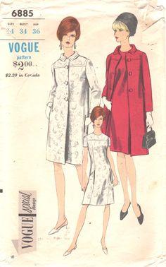 Vogue 6885 1960s Misses Special Design A Line Dress by mbchills