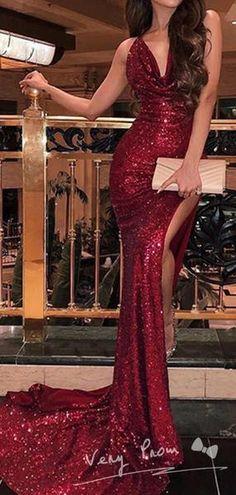 Spaghetti Straps Dark Red Sequin Mermaid Cheap Long Evening Prom Dresses, Evening Party Prom Dresses, 12305 - Beauty is Art Glitter Prom Dresses, Bodycon Prom Dresses, Mermaid Prom Dresses, Cheap Prom Dresses, Prom Party Dresses, Sexy Dresses, Red Prom Dress Sparkly, Elegant Dresses, Ball Dresses