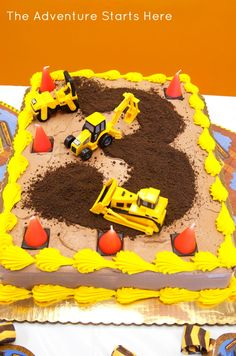 Construction Birthday Party | The Adventure Starts Here