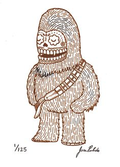 Star Wars Characters Depicted in Traditional Mexican Art Style