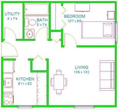 Small Studio Apartment Floor Plans | Floor Plans | NMU Housing and Residence Life