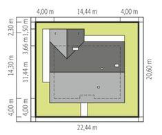 DOM.PL™ - Projekt domu ACX Mini 4 w. II CE - DOM UF1-11 - gotowy koszt budowy Farmhouse Design, Modern Farmhouse, Dream House Exterior, Planer, Bungalow, Tiny House, Bar Chart, House Plans, Construction