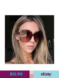 e7e04a057b1 Sunglasses   Fashion Eyewear Oversized Xl Large Glossy Elia Square Jackie O  Wayf Butterfly Vintage Sunglasses