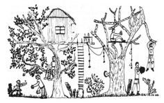 cabins in trees