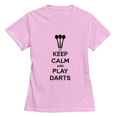 >> Click to Buy << O Neck Keep Calm And Play Darts Woman's t-shirt Designer Customized Women t shirts #Affiliate
