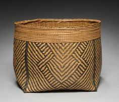 Africa | Basket from the Mangbetu peoples of DR Congo | ca. before 1929 | Natural fiber