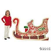 Santa's Sleigh Stand-Up